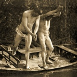 Diving Off a Rowing Boat, C.1910 Photographic Print