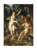 Adam and Eve Giclee Print by Joachim Wtewael Or Utewael