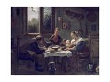 Prayer before Lunch Giclee Print by Jan Havicksz. Steen