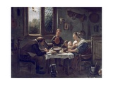 Prayer before Lunch Giclee Print by Jan Steen