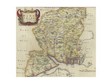 Map of Hampshire Giclee Print by Robert Morden