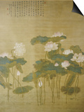 Lotus Pond, 1726 Posters by Hua Yan