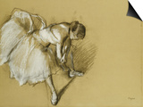 Dancer Adjusting Her Shoe, circa 1890 Print by Edgar Degas