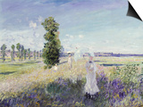 La Promenade (Argenteuil), 1875 Prints by Claude Monet