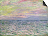 On the High Seas, Sunset at Pourville Posters by Claude Monet