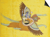 Vishnu and Lakshmi on Garuda Bundi, circa 1700 Poster
