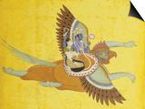 Vishnu and Lakshmi on Garuda Bundi, circa 1700 Póster