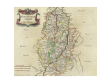 Map of Nottinghamshire Giclee Print by Robert Morden