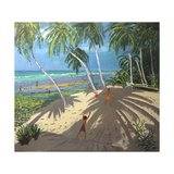 Palm Trees, Clovelly Beach, Barbados, 2013 Giclee Print by Andrew Macara