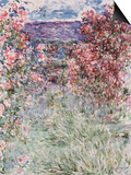 The House in the Roses, 1925 Print by Claude Monet