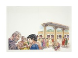 Ancient Athens - Reconstruction of the Gymnasium Giclee Print