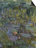 Water Lilies, Nympheas Posters by Claude Monet