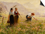 Summer's Day in Norway; Ein Sommertag in Norwegen Art by Hans Dahl