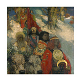 The Druids - Bringing in the Mistletoe, 1890 Giclee Print