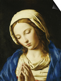 The Madonna, Bust Length, at Prayer Print by  Giovanni Battista Salvi da Sassoferrato
