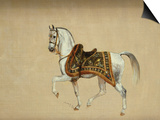 A Horse in Ceremonial Saddlecloth - the Mount of the Marquess Clanricade Prints by Richard Barrett Davis