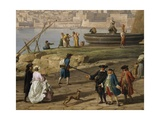 Scene in Port of Naples Giclee Print by Claude-Joseph Vernet