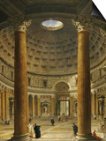 The Interior of the Pantheon, Rome, Looking North from the Main Altar to the Entrance, 1732 Affiches par Giovanni Paolo Pannini