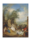 A Fete Champetre During the Grape Harvest Giclee Print by Jean-Baptiste Joseph Pater