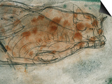 Sleeping Cat Print by Paul Klee