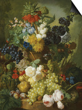 A Still Life of Flowers and Fruit Prints by Jan van Os