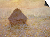 Haystacks, Sun on the Mist Posters by Claude Monet