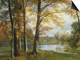 Un lac paisible Posters par Albert Bierstadt