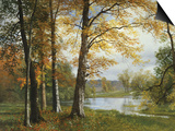 A Quiet Lake Posters by Albert Bierstadt