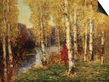 Birches Poster par Eugène Boudin