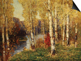 Birches Poster by Eugène Boudin