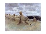 Hay Field Giclee Print by Giuseppe De Nittis