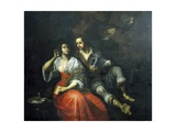 Lady and Knight Giclee Print by Domenico Fiasella