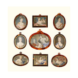 Selection of Miniatures Giclee Print by Rosalba Carriera