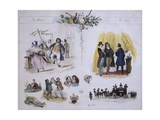 The Good and Bad, Ca 1835 Giclee Print by Victor Adam