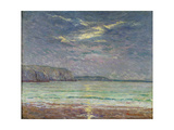 Cliffs with Setting Sun Giclee Print by Maxime Emile Louis Maufra