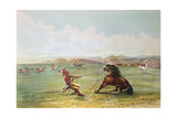 Osage Hunters Catching Wild Horses Giclee Print by George Catlin