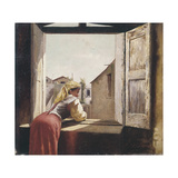 Woman on a Window Giclee Print by Vincenzo Cabianca