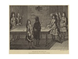 Billiard Table of King Louis XIV of France Giclee Print