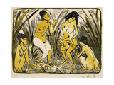 Discovery of Moses, 1920 Giclee Print by Otto Muller or Mueller