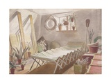 The Attic Bedroom, Brick House, Great Bardfield Giclee Print by Eric Ravilious
