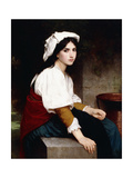 Italian Girl by a Fountain, 1870 Giclee Print by William Adolphe Bouguereau