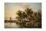 Sunlit Norfolk River Landscape Giclee Print by James Stark