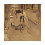 Madam Hessel Sewing under the Lamp, C.1905 Giclee Print by Edouard Vuillard