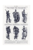 The Fight for Italianism, World War I, 1915 Giclee Print
