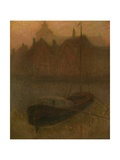 Boat on the Canal Giclee Print by Henri Eugene Augustin Le Sidaner