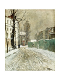 Back Street, Montmartre Giclee Print by Fritz Thaulow