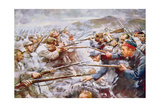 Belgians Repelling Germans at Liège, 1914 Giclee Print by Arthur C. Michael