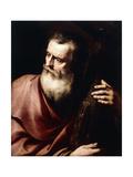 Saint Andrew Giclée-tryk af Jusepe de Ribera
