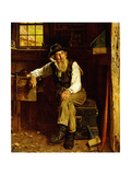 Living in the Past Giclee Print by John George Brown