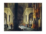 Interior of Temple Giclee Print by Anthonie de Lorme